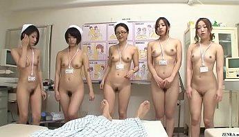 日本美女白衣天使女護士痴女眾樂樂與大雞巴病人群交,無碼、群交、護士成人影片、免費A片