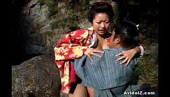 日本古代婦人藝妓園林私會激情幹炮,日本、藝妓、露天成人影片、免費A片